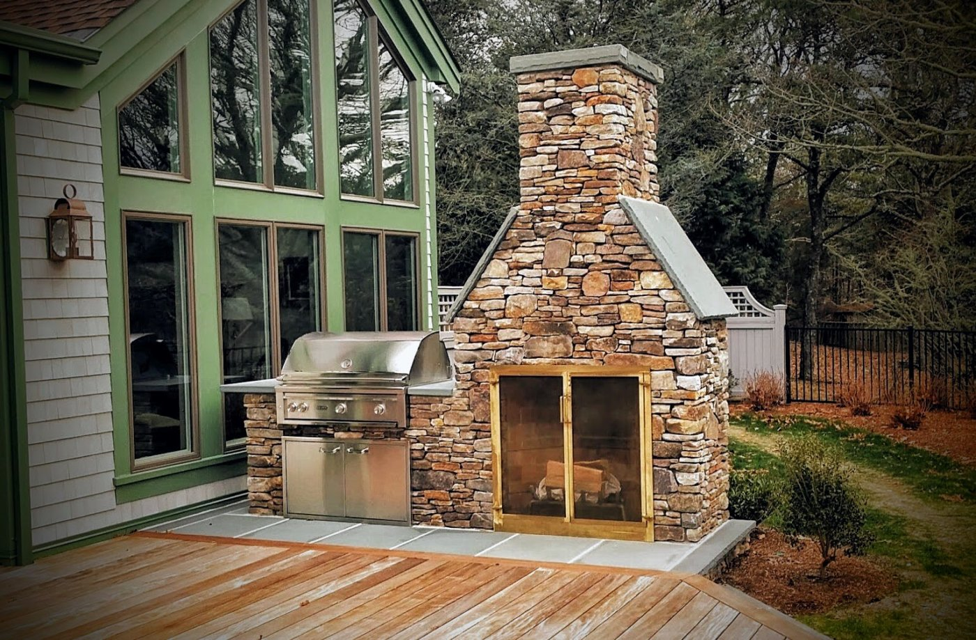 BBQ Fireplace Grill Cape Cod Outdoor Living_Orleans