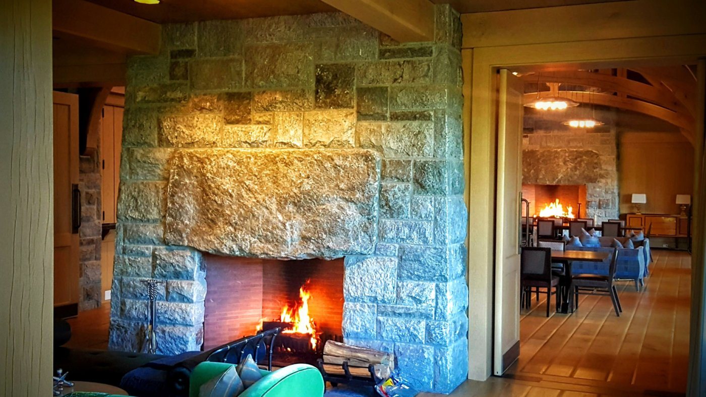 Big Stone Fireplace Cotuit Cape Cod Cornerstone