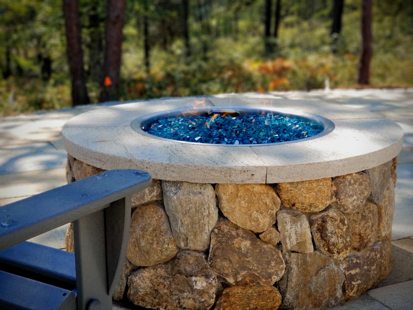 Gas Stone Firepit Outdoor Living Redbrook