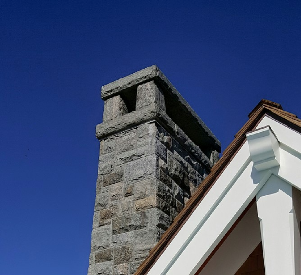 Granite Chimney Cap And Piers