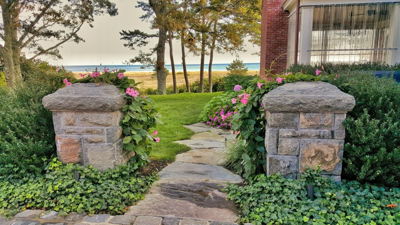 Granite Pillars Cape Cod Cornerstone Stonemason