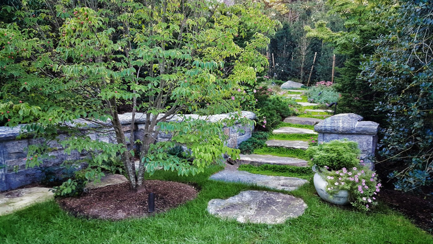 Granite Rustic Steps Cotuit Cape Cod Cornerstone