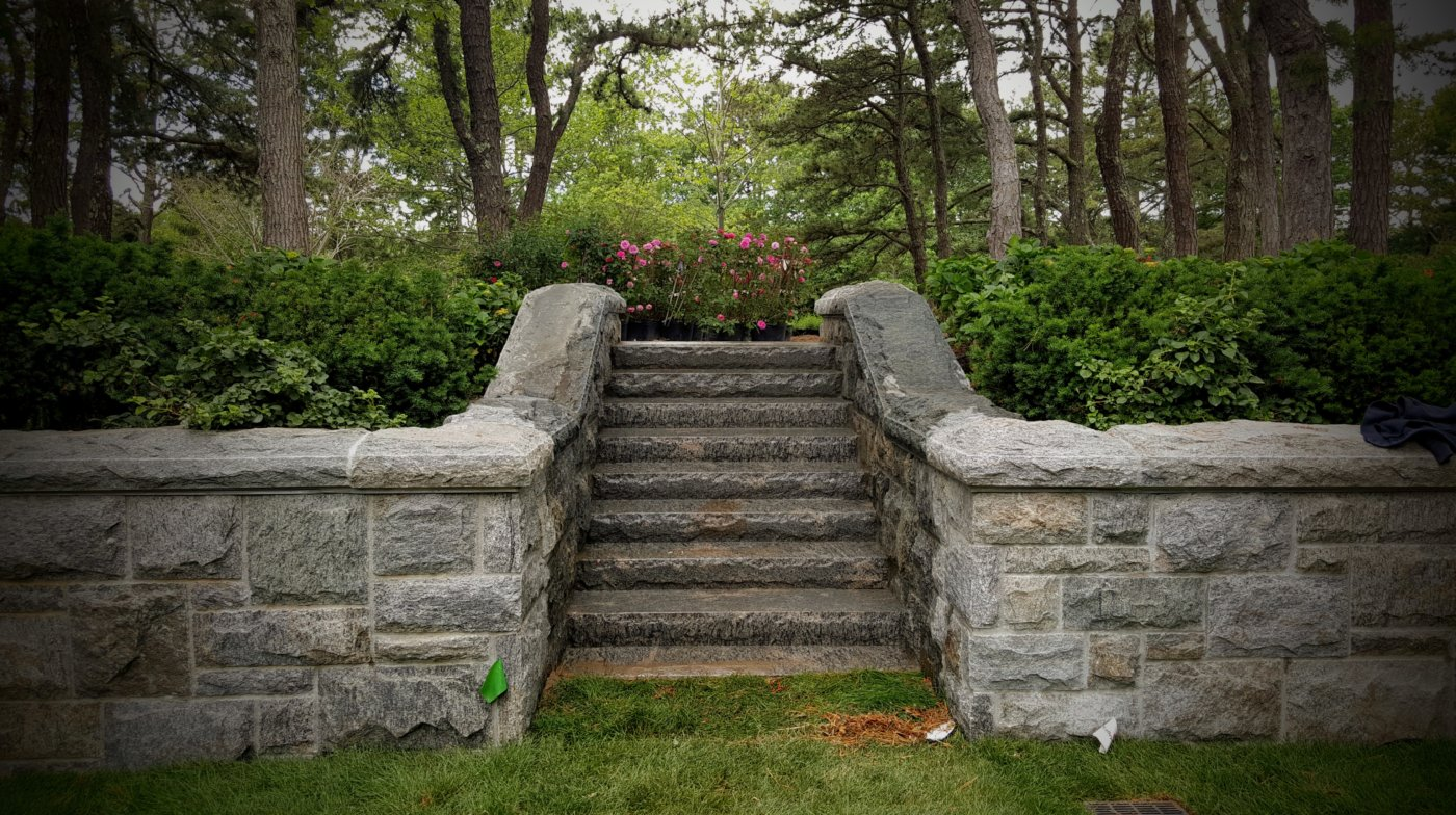 Granite Staircase Steps Monolithic Cape Cod Cornerstone
