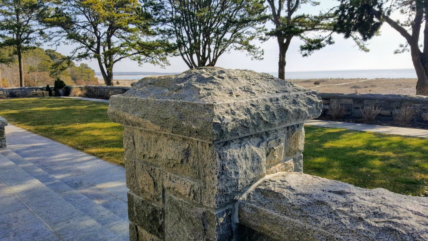 Granite Stone Pillar Cap Outdoor Living Cape Cod
