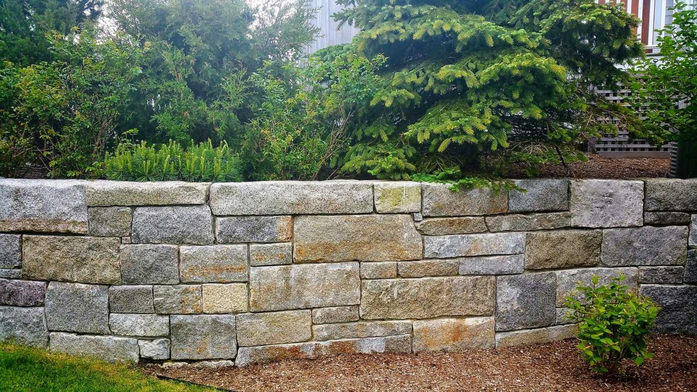 Granite Wall Falmouth Cape Cod Cornerstone
