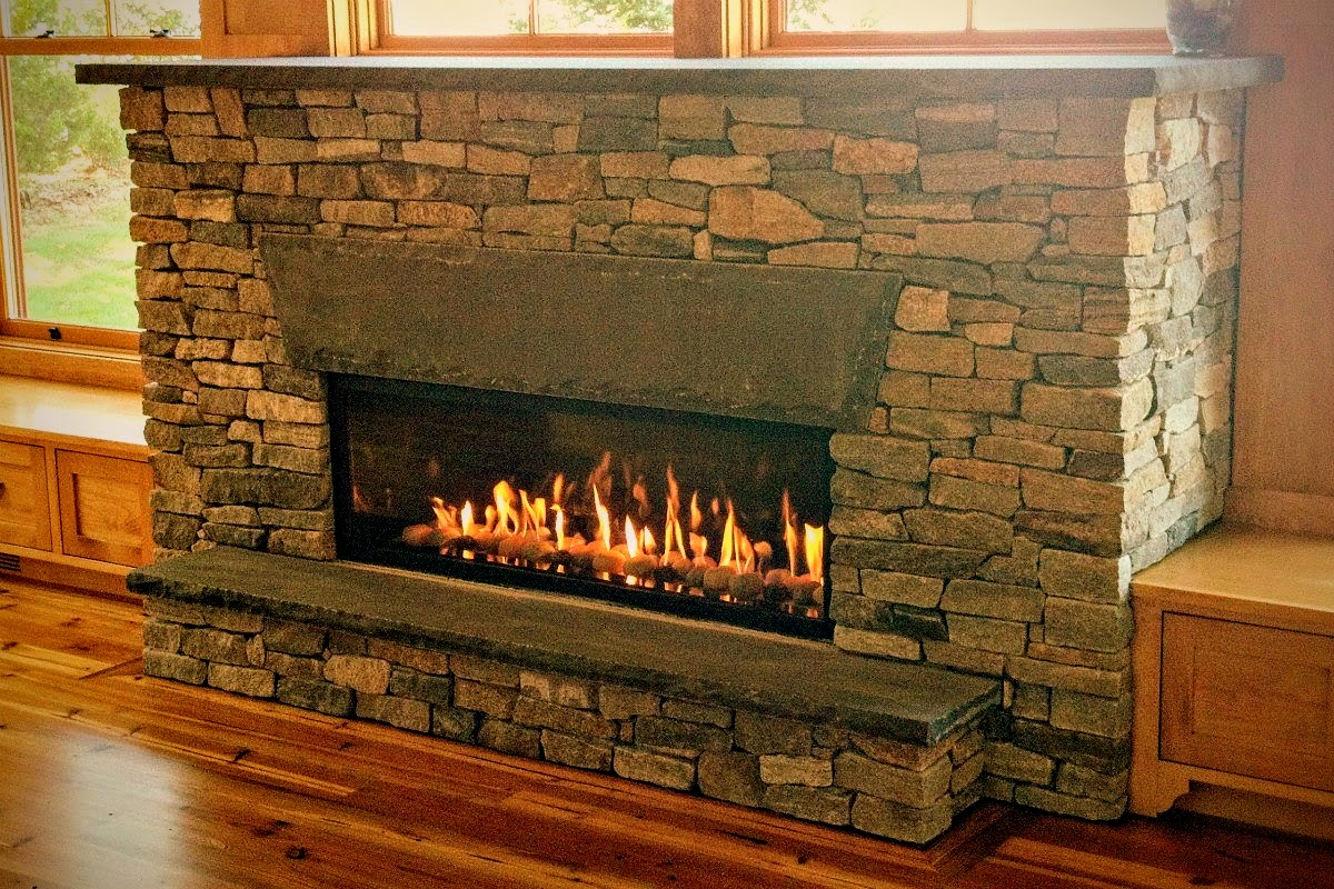 NE ledgestone Fireplace Falmouth, Mass