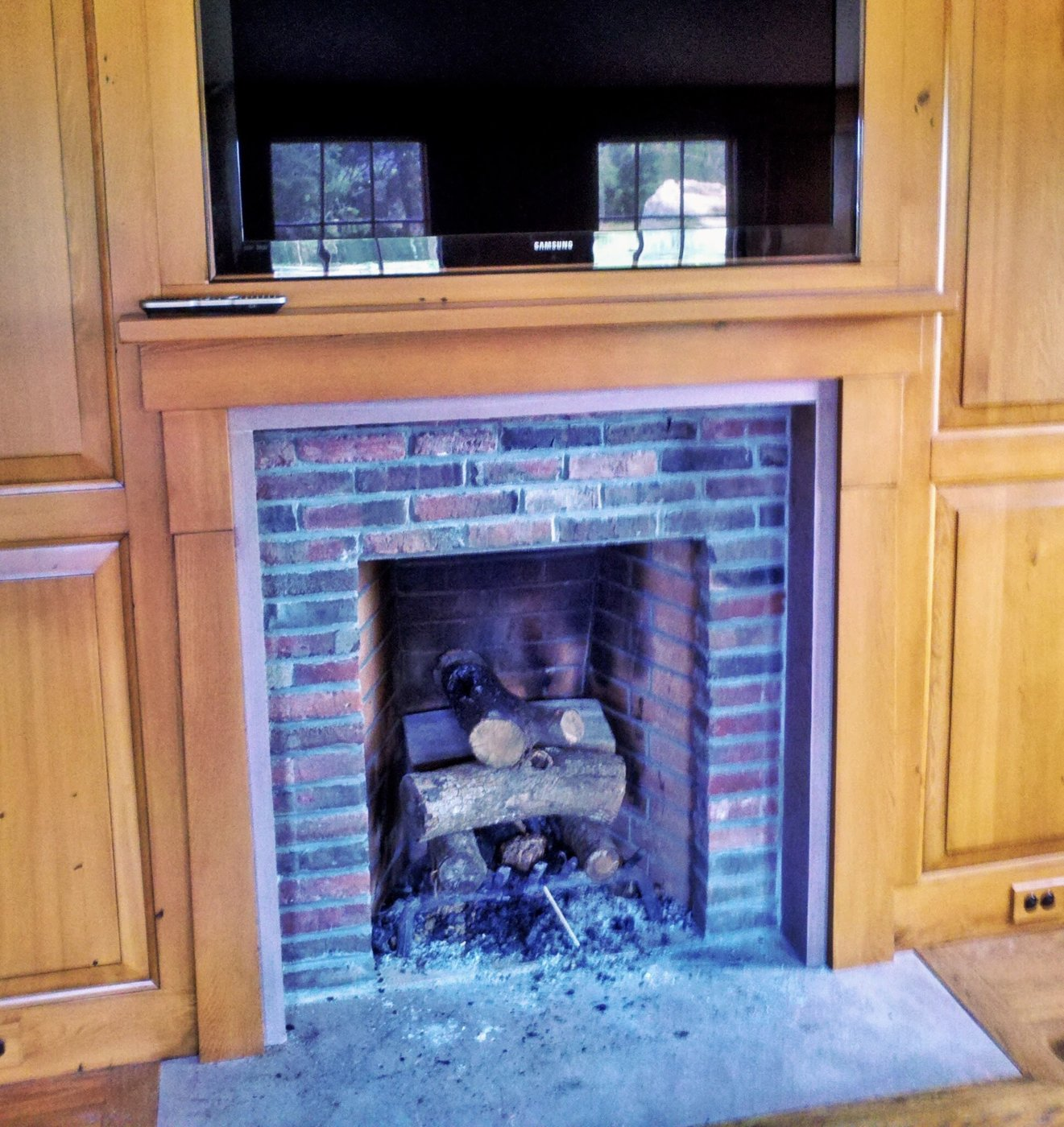 Restoration Historical West Barnstable Brick Fireplace
