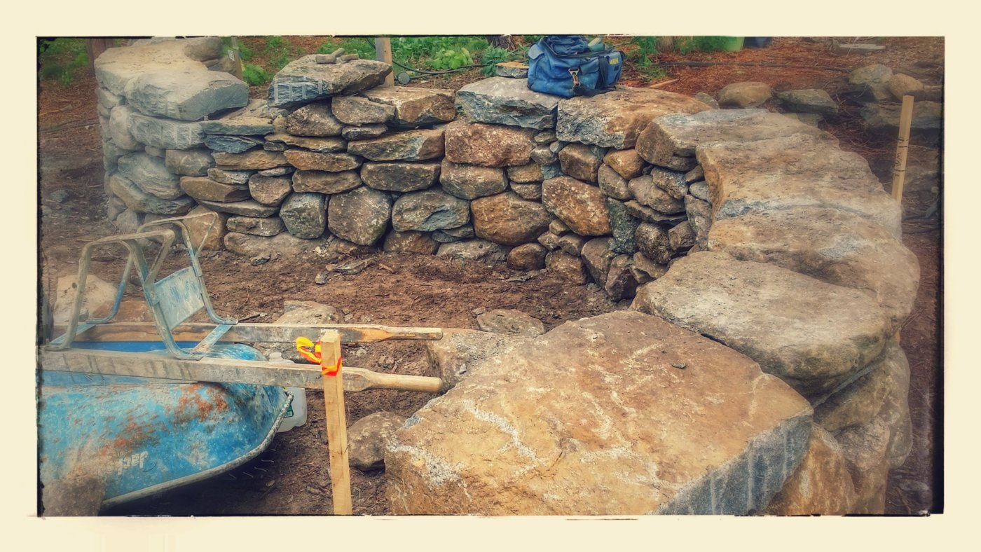 Rustic Stone Wall Dry Stack Orleans