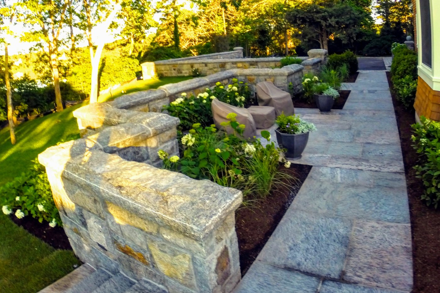 Granite Walkway & Walls