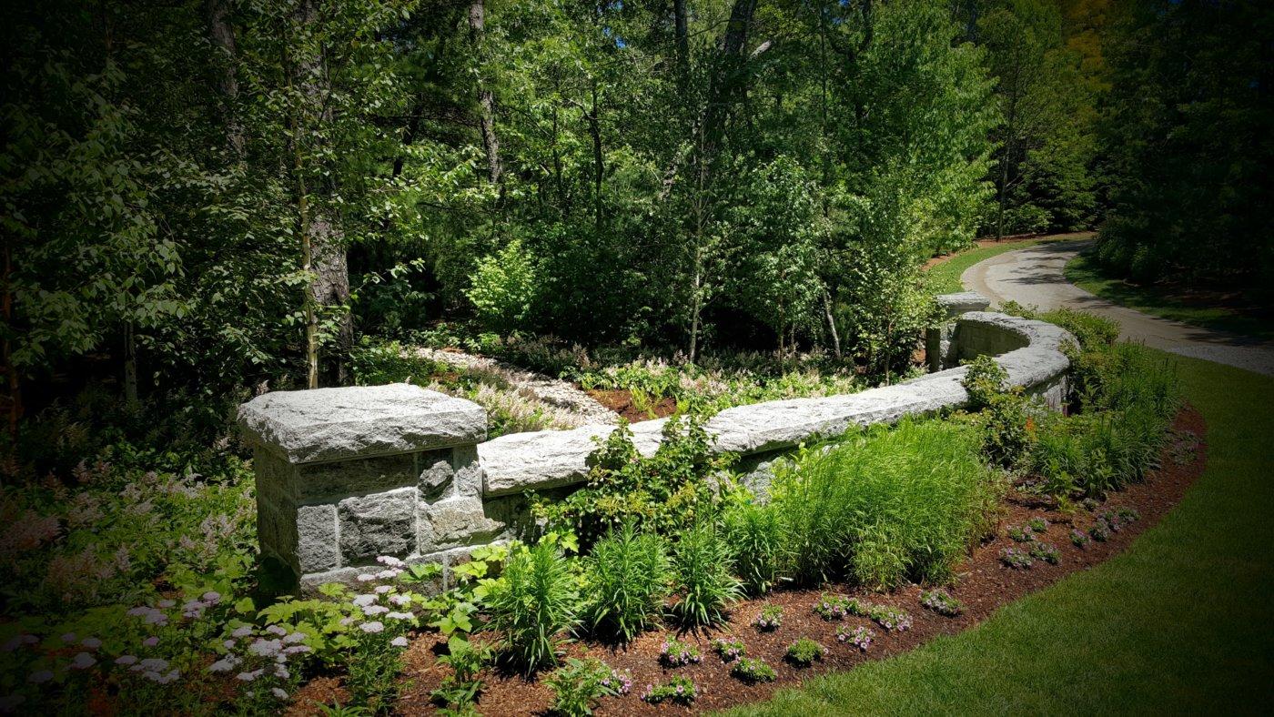 Stone Radius Wall Cornerstone