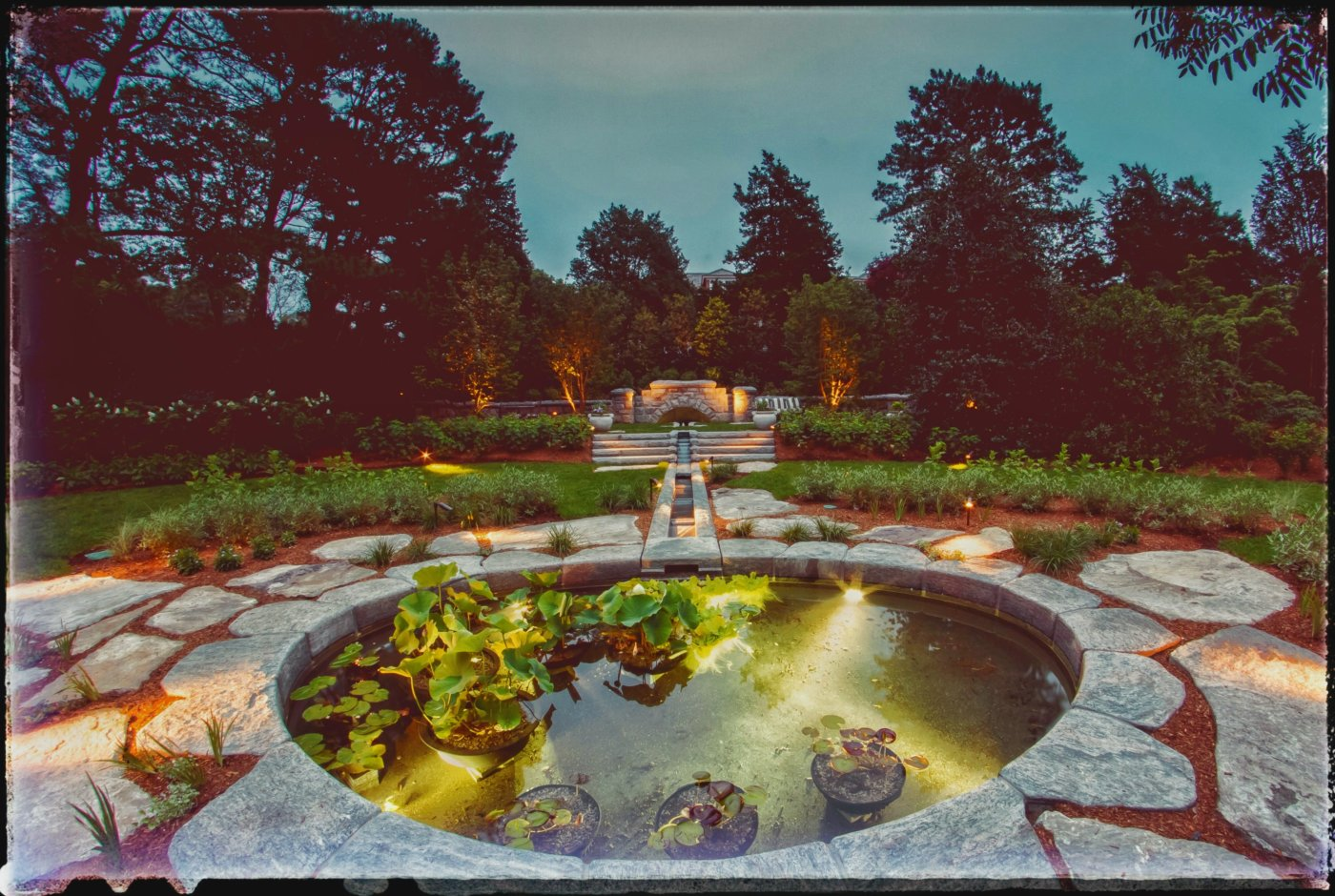 Waterfeature Coy Pond Cotuit Cape Cod Cornerstone Stonemason